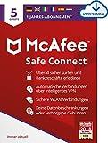 McAfee | SafeConnect 2021 - VPN | 5 Gerät | 1 Benutzer | 12 Monate | PC/Mac | Aktivierungscode per E