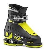 Roces Kinder Skischuhe Idea Up Größenverstellbar, Black-Lime, 25/29, 450490-018