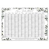 Wand-kalender 2021 Eukalyptus I DIN A3 Quer-Format I Süßer Jahresplaner mit Feiertagen für Büro Küche - Mädchen Frauen WG Familie I tr_025