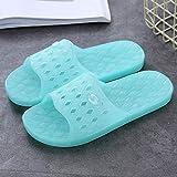 QQRR Unisex Badelatschen Schlappen Kopf und Sandalen im Badezimmer. Male und Frauen Sommer rutschfeste Schuhe-Tian LAN_39.Jungen Mädchen Badeschlappen