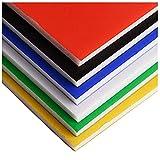 PVC-Platine mit niedriger Dichte, großer Farbe KT-Brett, Schaumbrett, manuelles DIY-Modell-Montagematerial-Weiß 200 * 300 * 5mm