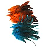 B Baosity Großhandel 100 Stück Schöne Hahnfedern 4 7 Zoll Orange & Deep Blue