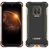 DOOGEE S86 Outdoor Smartphone ohne Vertrag, 8500mAh Akku, Helio P60 6GB+128GB, IP68&IP69K Wasserdicht Handy, 2W Lautsprecher, 16MP Quad-Kamera, 6.1 '' Corning Gorilla Glas NFC, 4 LED blinkt,Orange