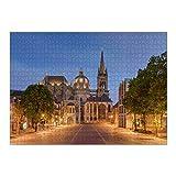 artboxONE Ravensburger-Puzzle XL (1000 Teile) Reise Aachener Dom am Abend - Puzzle Aachen aachener Dom Architecture