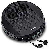 NAVISKAUTO Tragbarer CD Player Discman CD-Walkman Lautsprecher Skip Schutz für CD MP3 WMA CD-R CD-RW mit Kopfhörer für Hörbücher Sprachelernen