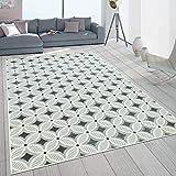 Paco Home In- & Outdoor-Teppich Mit Retro-Design Balkon Terrasse 3D-Web-Art In Grau Beige, Grösse:120x170 cm
