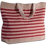 großer Shopper aus Jute-Baumwoll-Mischgewebe, XXL-Tasche u. Shopper für Strand, Freizeit, Shopping oder Sport, versch. Farben verfügbar von notrash2003