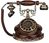 CMMWA Home Festnetztelefon Telefon Rotationszifferblatt Klassische Vintage Harz Home Kornosted Telefon Heimdekoration Büro Handwerk Festnetz