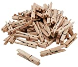 Wäscheklammern aus Holz - 300 Stück - Nachhaltige Holzklammern - unbehandelte zertifizierte Holzwäscheklammern zum Wäscheaufhängen und Basteln
