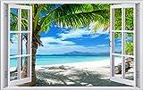 Palmen Meer Strand Beach Karibik Wandtattoo Wandsticker Wandaufkleber F0316 Größe 60 cm x 90 cm