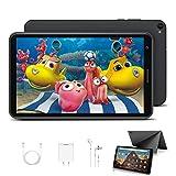 Kinder Tablet 8 Zoll mit WiFi 3GB + 32GB/128 Erweiterbar Android 10.0 Pie Zertifiziert von Google GMS 1,6Ghz Kids Tablet Quad Core 5000mAh Dual Kamera Tablet PC Netflix Lernspiele(Schwarz