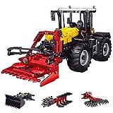 Sunbary Technik Traktor Bausteine, Mould King 17019, 4-in-1 2.4Ghz/APP RC Traktor Modell Bausatz, 2596 Teile Klemmbausteine Kompatibel mit Lego Technic