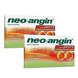neo-angin Benzydamin gegen akute Halsschmerzen   Sparset mit 2 x 20 Stück   Lutschtabletten mit Honig-Orangengeschmack für Erwachsene & Schulkinder   zuckerfrei