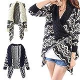 Damen-Pullover mit langen Ärmeln, europäischer und amerikanischer Stil, geometrisches Muster, mit Blasenkragen, gestrickt, Schal für Damen