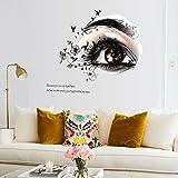 Schöne augen Wandaufkleber wohnzimmer schlafzimmer hintergrund Abnehmbare PVC Dekoration Kunst Decals poster Aufkleber tapete