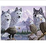 N\A Puzzle 1000 Teile Jigsaw Puzzle Für Erwachsene Und Kinder - White Wolf Eagle - 1000 Teile Jigsaw Puzzle Puzzles Geschenk Puzzle Erwachsene