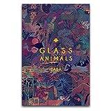 KASUP Glas-Tiere, Zaba, Kunst-Poster, Heimdekoration, Gemälde, Film-Star, Büro, 30 x 45 cm
