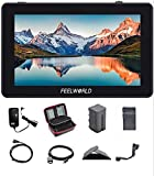 Feelworld F6 Plus Video Assist 4K 1920x1080 5.5 Inch 3D LUT Touch Screen IPS FHD Support HDMI Field Monitor On DSLR Camera IncludeTilt Arm and Adapter 12V (F6 Plus 5.5'' with Battery and Charger)