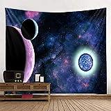 shuimanjinshan Planeten Tapisserie Weltraum Galaxy Universum Gedruckte Wandteppiche Wandbehang Wandbild für Schlafzimmer Wohnzimmer Wohnheim 180X230C