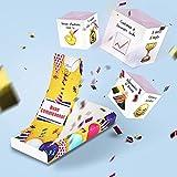 «BOOM!» Glückwunschkarte - Glückwunschkarte zum Geburtstag mit Überraschung 3 Würfel - lustige Geschenke