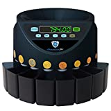 Automatischer Euro Münzzähler & -sortierer Geldzählmaschine SR1200 Geldzähler Münzzählautomat Securina24 (Schwarz - Blacklabel - BBB)