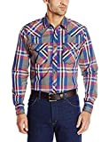 Wrangler Herren 20x Competition Two Pocket Long Sleeve Snap Shirt - Rot - XX-Large