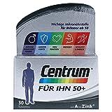 Centrum Generation 50+ Für Ihn – Hochwertiges Nahrungsergänzungsmittel mit Mikronährstoffen – Speziell für Männer ab 50 – Vitamine, Mineralstoffe, Spurenelemente – 1 x 30 Tabletten