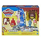 Play-Doh E6688 Drizzy Eismaschine mit Toppings, inklusive Play-Doh Drizzle Knete und 6 Play-Doh Farb