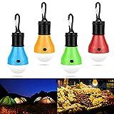 Campinglampe LED,KPIDA Camping Laterne Tragbare Zeltlampe Glühbirne Set mit Karabinerhaken, Camping Licht Notlicht 60 Lumen Wasserdicht, Tragbare LED Camping Laterne für Party Angeln Garten Zelt