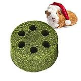 Natürlicher Gras Kuchen, Kaninchen Timothy Grass Kauball für Hasen Hamster Meerschweinchen Rennmäuse Reinigungszähne (S)