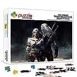 Puzzles für Erwachsene 1000 Stück The Witcher 3: Wild Hunt-Filmfiguren Puzzle in Pappe, große Familienunterhaltung Pädagogische Puzzles