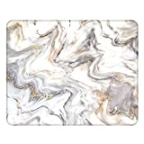 Nakapa Anti-Rutsch-Mauspad aus Gummi, quadratisch, für Arbeiten und Spielen, 260 x 210 mm (grauer Marmor)