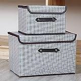 JINTIANSDS Faltbare Non-gewebt Aufbewahrungsboxen Mit Griffdeckel,2pcs Tragbar Ordnungsboxen,Stapelbare Mehrzweck Aufbewahrungskorb Für Spielzeugkleidung-Gitter 2stk