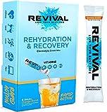 Revival Isotonisches Getränkepulver Elektrolyt Drink - Gesundheits- und Sportgetränk – Orange 6 Sticks
