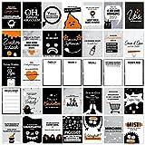 wrdprn (Etwas Andere) Meilensteinkarten - 45 Baby Meilenstein Karten für Mädchen & Junge - Lustige & Ehrliche Erinnerungskarten als Geschenk zur Babyparty, Geburt & Taufe (Meilensteinkarte)