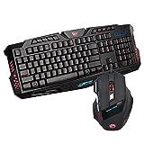 Suiyue Tech. Kabelgebundene LED-Gaming-Tastatur und -Maus, Regenbogen-Hintergrundbeleuchtung, ergonomisches Set, 2-in-1-Bundle für PC/Computer/Laptop/XBOX/PS4/Tablets und mehr