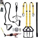 Clothink Sling Trainer Schlingentrainer bis 300 kg Fußschlaufen Übungsanleitung Längenverstellbar Fitness Zuhause Suspension