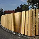 Gartenwelt Riegelsberger 5 Stück Premium Zaunlatte Typ A aus Lärchenholz 20x95 mm Höhe 100 cm sibirische Lärche Oben abgerundet