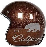 XWW Motorrad Open Face 3/4 Helm, DOT Approved Adult Vintage Helm Fliegerhelm Motorrad Damen- und Herrenhelm Vespa Motorradhacker, M-XL (54-63CM)