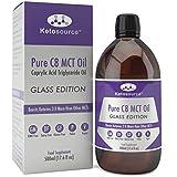 Premium C8 MCT Öl | Glasflasche | Produziert 3X Mehr Ketone als Andere MCT-Öle | Höchste verfügbare Reinheit mit 99,8% | Reine Caprylsäure | Paläo/Vegan | Ketogen und Low Carb | Ketosource®