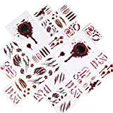 Joyjoz 170× Halloween Tattoos Temporäre Wasserdicht Schminke Aufkleber Kunstblut Narben für Halloween kostüm Zombies Vampir Cosplay Carnival Party Prop Dekorationen