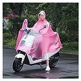 liutao Regenponcho Fahrrad Mode Regenmantel Motorrad Doppelkappe Höhlen Elektrische Auto Poncho Fahrrad Reiten Nacht Reflektierende Männer und Frauen Regenmantel Kapuze Fahrradregencape (Color : G)