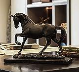 WOREX-Skulptur Pferdeskulptur Kreative Wohnskulptur Harz Handwerk Dekoration Schrankeinrichtung Souvenir,AB