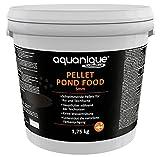 AQUANIQUE Pellet Pond Food, Fischfutter, Teichfutter, Hauptfutter für Koi und Teichfische, 5 mm Pellets (5 L / 1,75 kg)