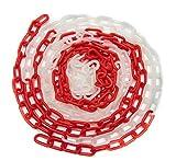 Absperrkette Rot-Weiß Kunststoff Glieder 35x20mm Kunststoffkette Warnkette 6mm Baustellensicherungskette (5 Meter)