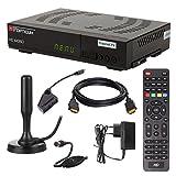 HB DIGITAL DVB-T/T2 Set: Opticum HD AX360 HEVC DVB-T/T2 Receiver + Xoro HAN 100 DVB-T/T2, FM, DAB Aktive Antenne (freenetTV, Full HD, HEVC/H.265, HDTV, HDMI, USB 2.0 DVBT DVBT2 DVB-T2)