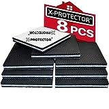 X-PROTECTOR Anti Rutsch Pad - Rutschhemmer für Möbel - 8 Stück 100 mm Antirutschpads - Beste Möbelstopper - Gummifüße selbstklebend - Premium Filzgleiter Gummi für Möbelfüße!
