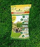 Spielrasen Universalrasen 400 GR. - Rasensamen - für robusten und widerstandsfähigen Rasen - Rasensaat für ca. 11 qm bei Neuanlage / ca. 20 qm bei Nachsaat (Reparatur)