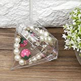Omabeta Classic Romance Plastic Candy Box Transparente, haltbare Diamantform 12-TLG. Für Schmuck