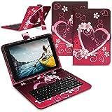 Tablet Hülle kompatibel für Medion Lifetab E10910 E10911 Tasche Tastatur Keyboard QWERTZ Schutzhülle Cover Standfunktion USB Schutz Case, Farben:Motiv 3
